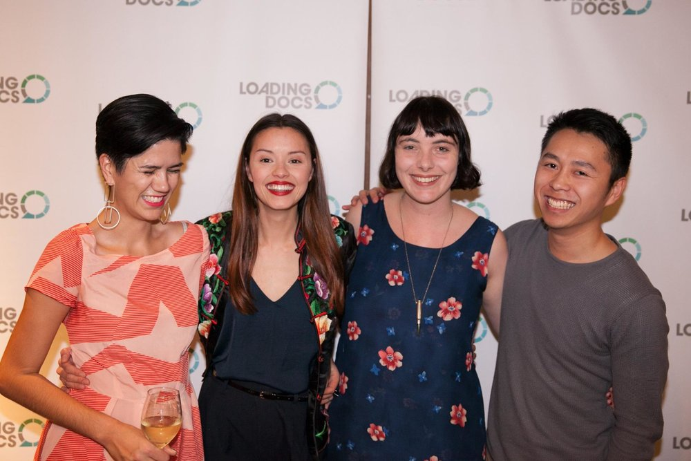 From left: Ruby, Chye-Ling, Kelly and Calvin at the premiere screening of Asian Men Talk About Sex for Loading Docs
