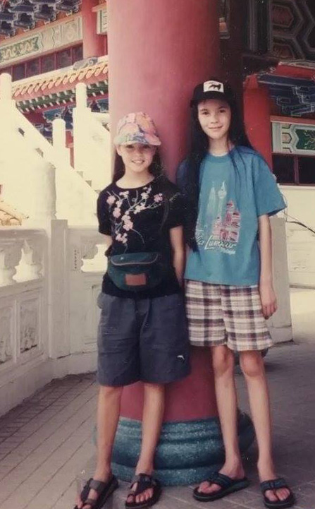 Chye-Ling (left) with her sister, Chye-Mei.