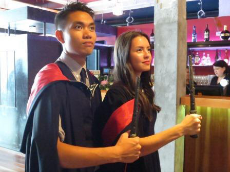 James Roque and Chye-Ling Huang, co-founders of PAT, graduating acting school