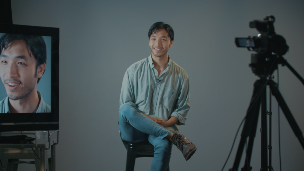 Yoson on the set of 'Asian Men Talk About Sex'