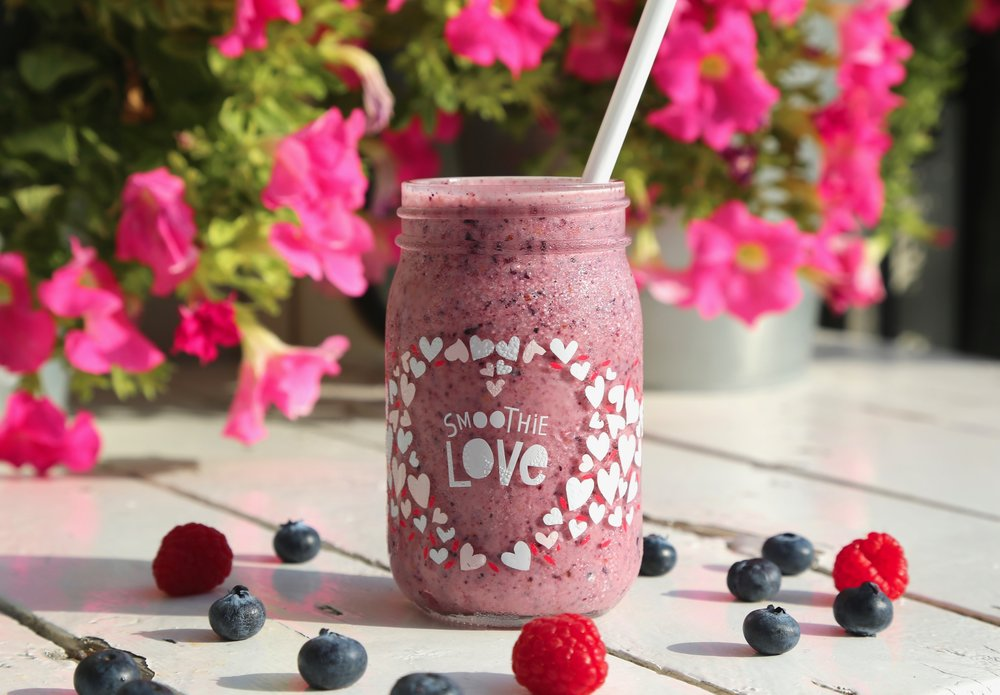 Find Me In The Bush: Blueberry, raspberry blended with yoghurt, milk & honey