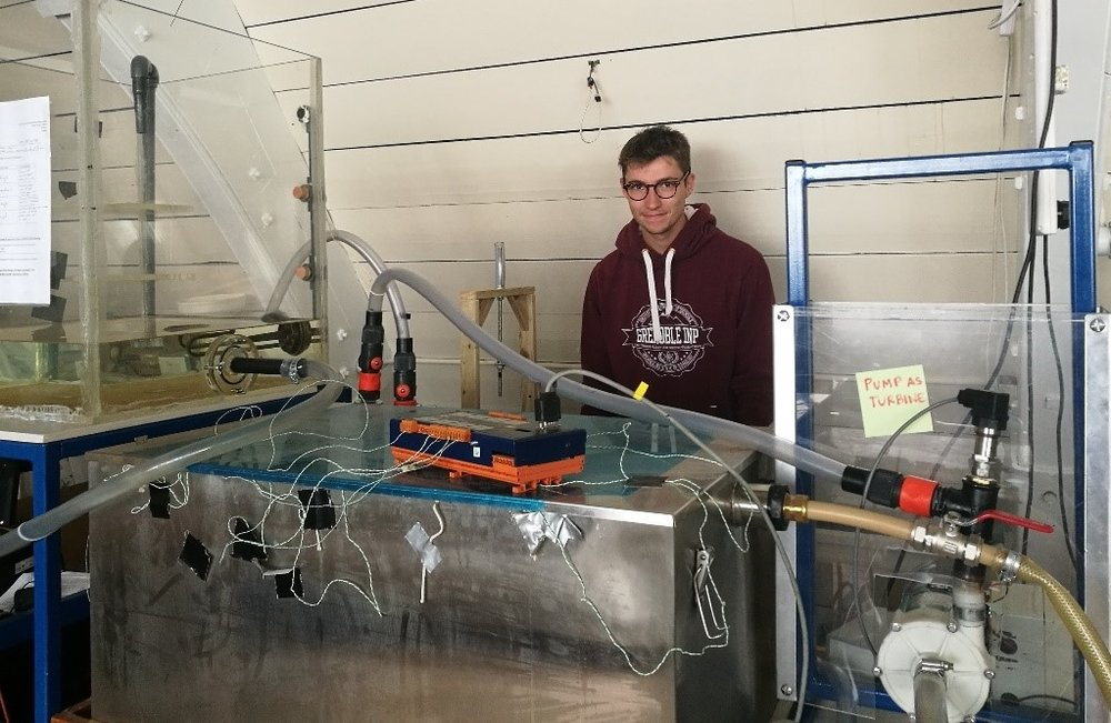 Michael with our laboratory test rig!