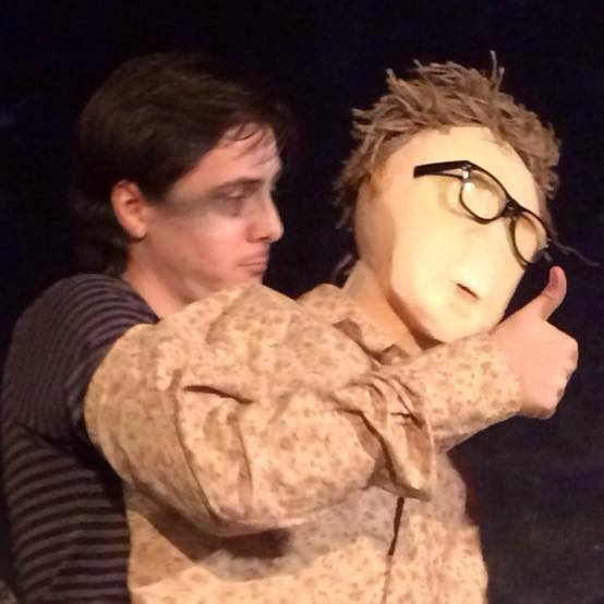 "Oscar Balfour with ""Puppet Paul"" from the Crooked Tree Theatre's Crooked Cabinet of Curiosities (October 2016)"