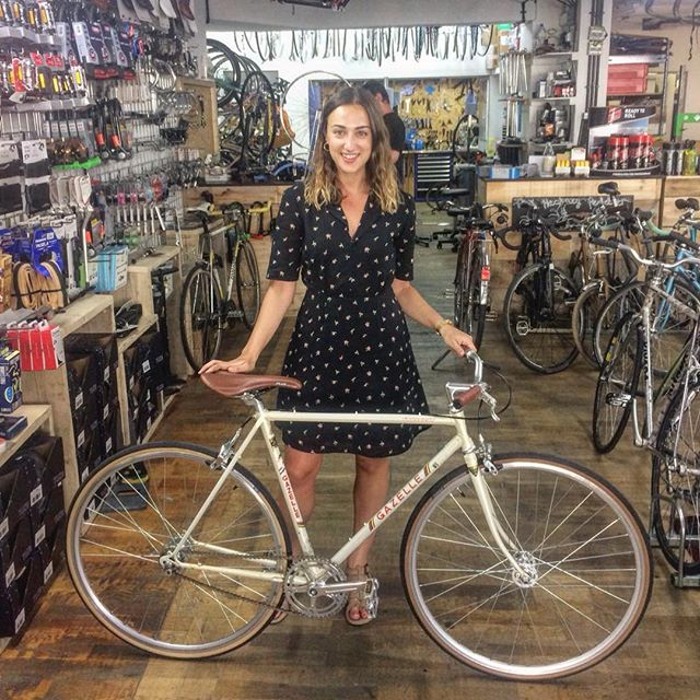 Sara and her Gazelle single speed build  #Sara #singlespeed #gazelle