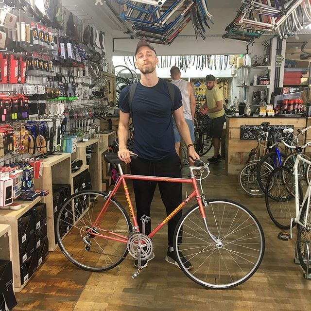 Andrew and his Batavus #andrew #batavus #citybicycle