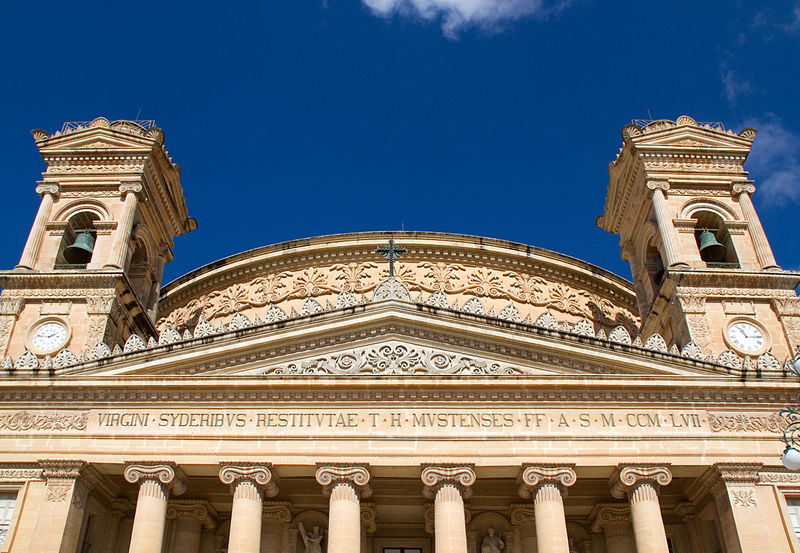 By Tony Hisgett from Birmingham, UK (Mosta Dome 5  Uploaded by tm) [CC BY 2.0 (http://creativecommons.org/licenses/by/2.0)], via Wikimedia Commons