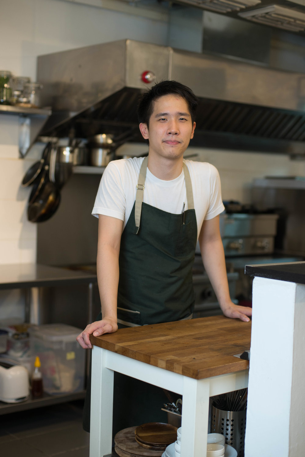 Lim Heng Kit   Chef/owner | Still dreams of playing professional football | Ceramics and cookbook addict.