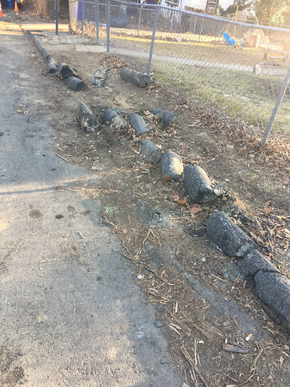 Curbs found in the Garland neighborhood.