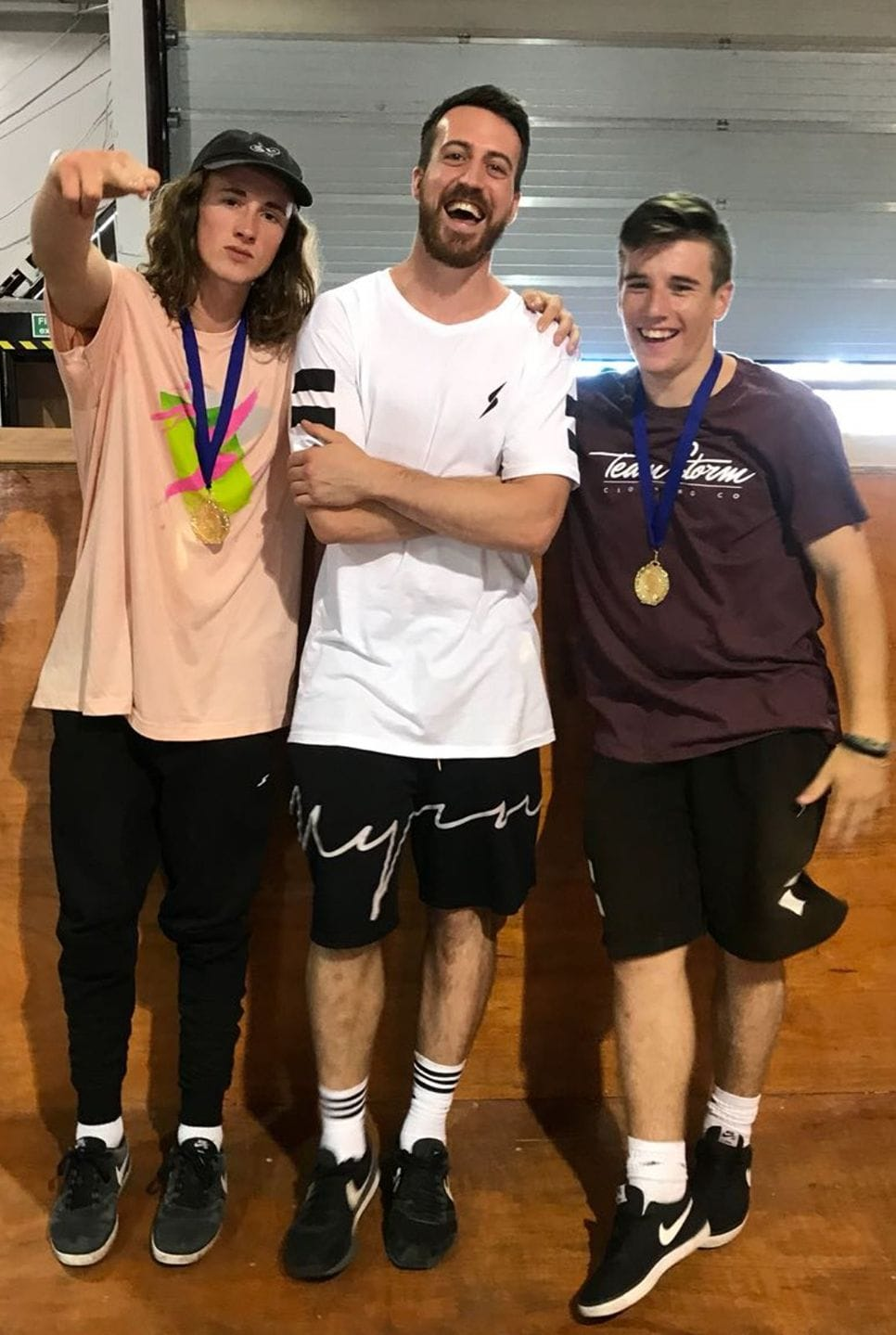 Project Underground IV - Project Underground gold medalists Joseph Henderson and Edward Scott with their coach Tom Taylor (Movement Power)