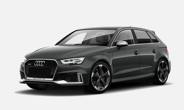 Audi RS3 Sportback (400 PS)547,00€ / Monat - *Nur Gewerbekunden*alle Werte zzgl. der jeweiligen Umsatzsteuer