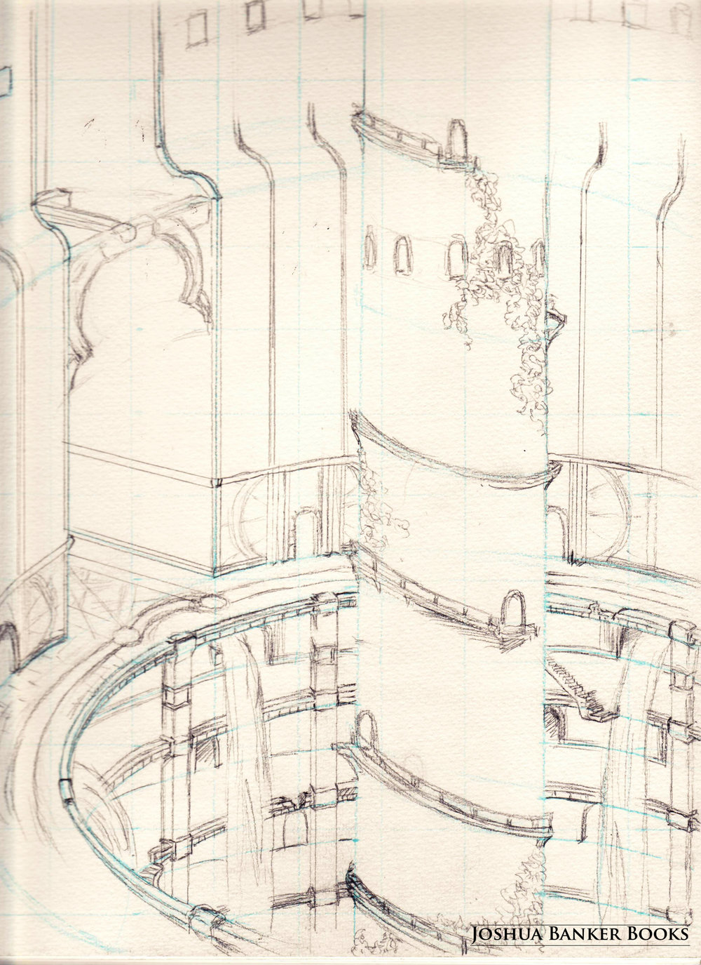 Stairwell Interior (sketch)