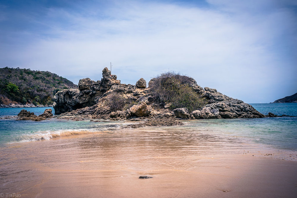 Beautiful secluded rocky beach