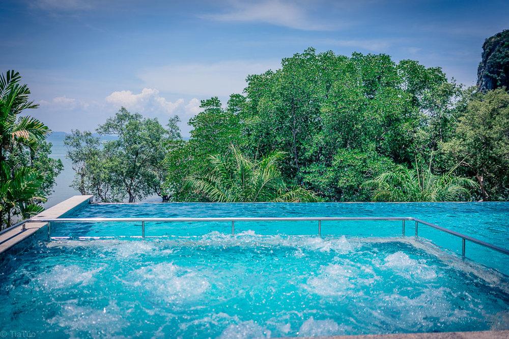 One of the pools at Princess Railay Resort
