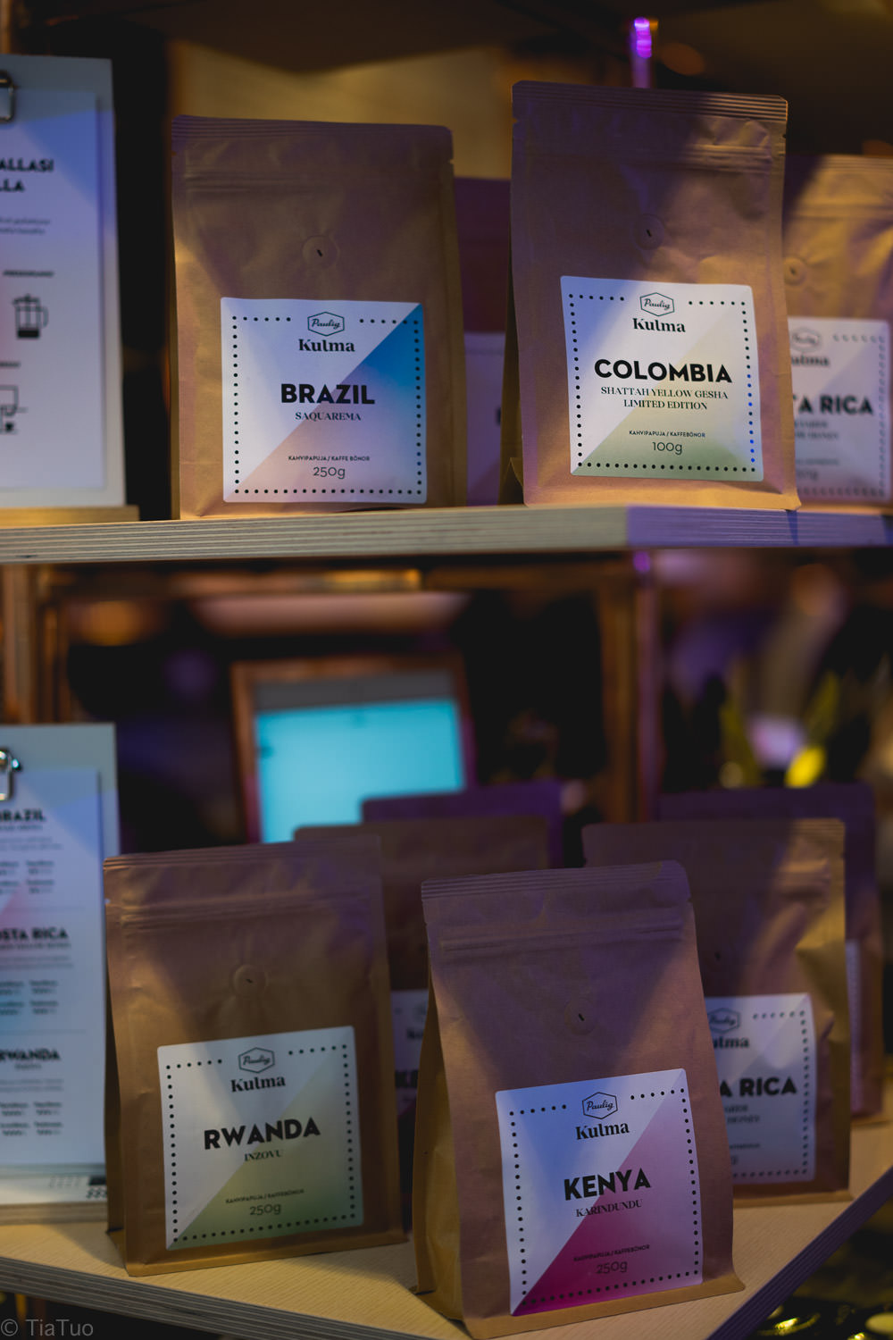 Different single origin and limited edition coffees roasted in Kulma