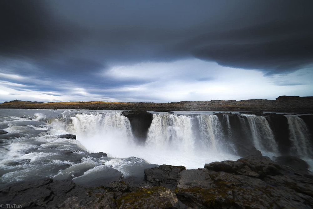 Dettifoss in all its' power, seemed like the ground was shaking