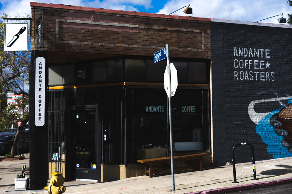 Andante on Sunset Blvd; not on this listing, but surely good coffee!