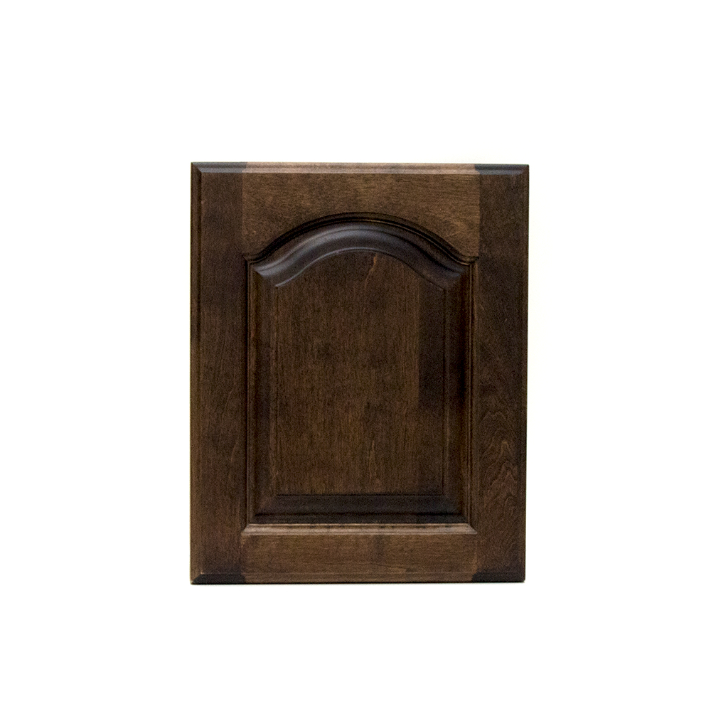 Arched raised panel cabinet door,birch 2-r1-p2-w