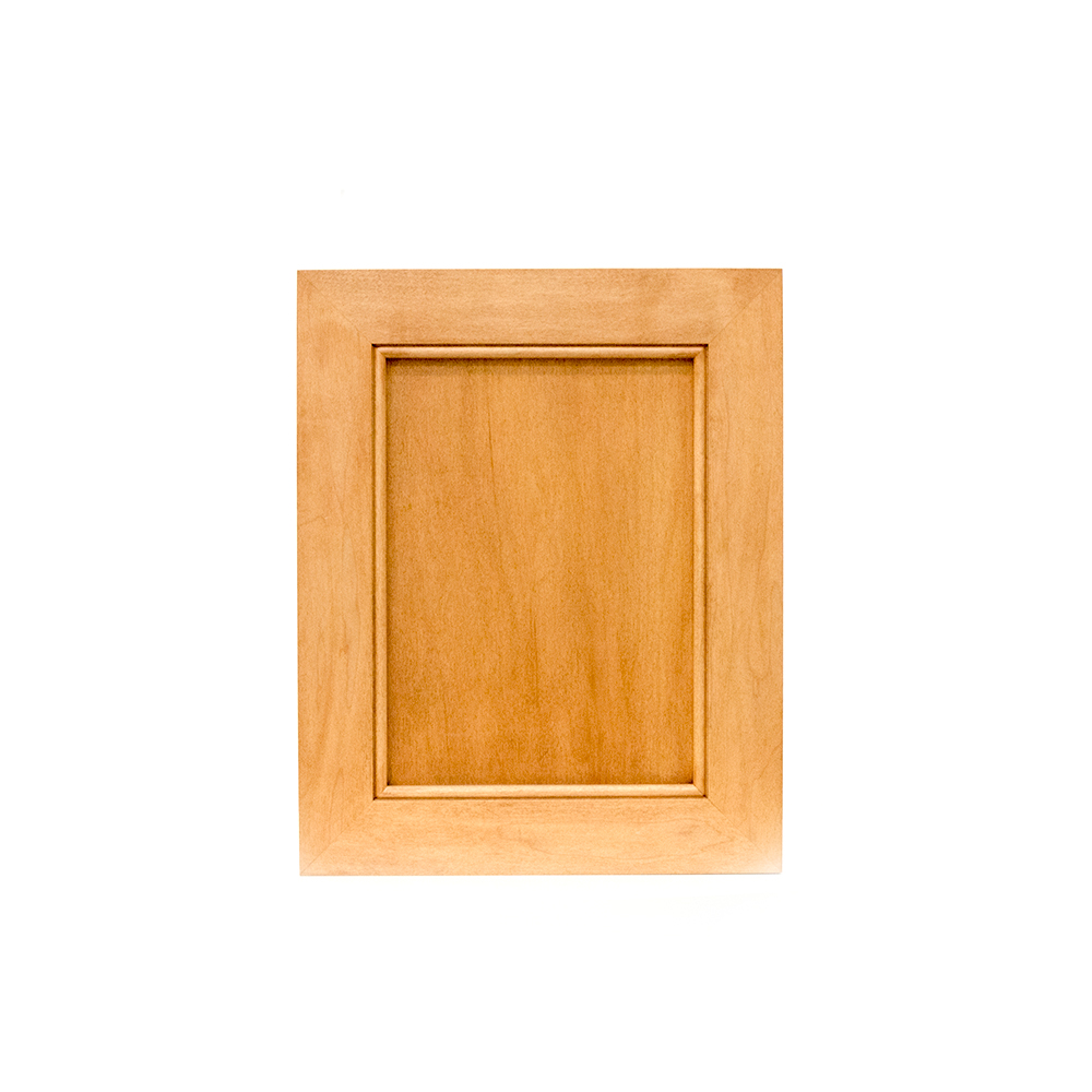 Mitred square recessed panel cabinet door, maple 45-12-cp