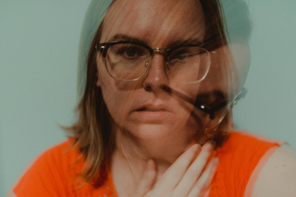 I got a little weird with a double-exposure, self portrait.
