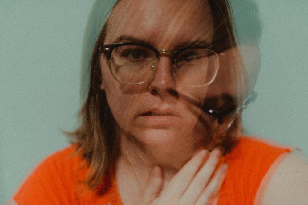 I got a little weird with a double-exposure, self portrait.