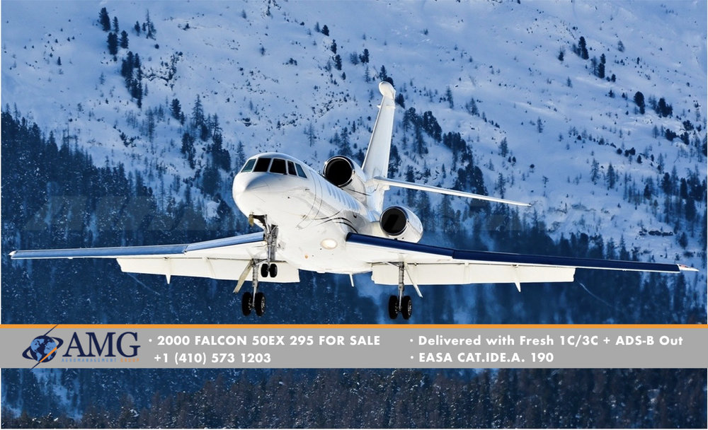 2000 FALCON 50EX 295 - Delivered Fresh 1C/3C and ADS-B Out From Dassault Aircraft Service Wilmington (ILG)
