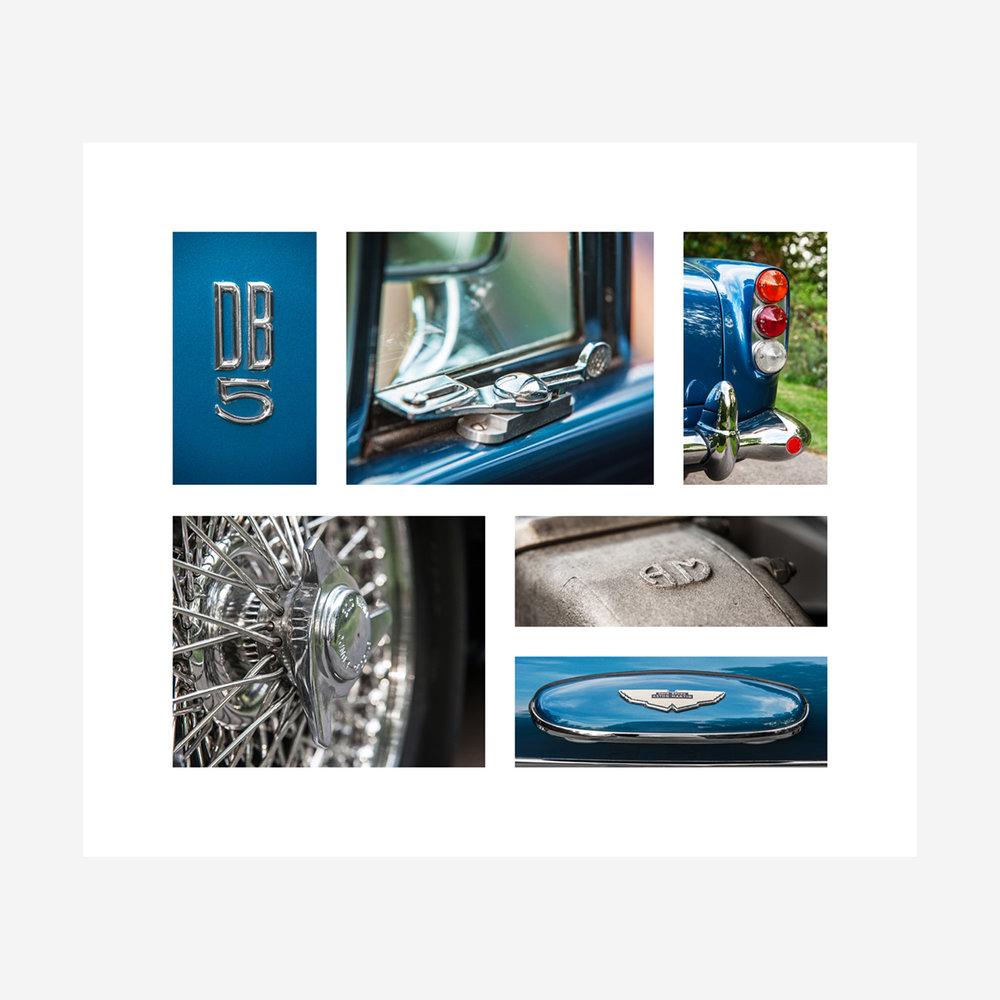 "Aston Martin DB5 Details 28"" x 24"""