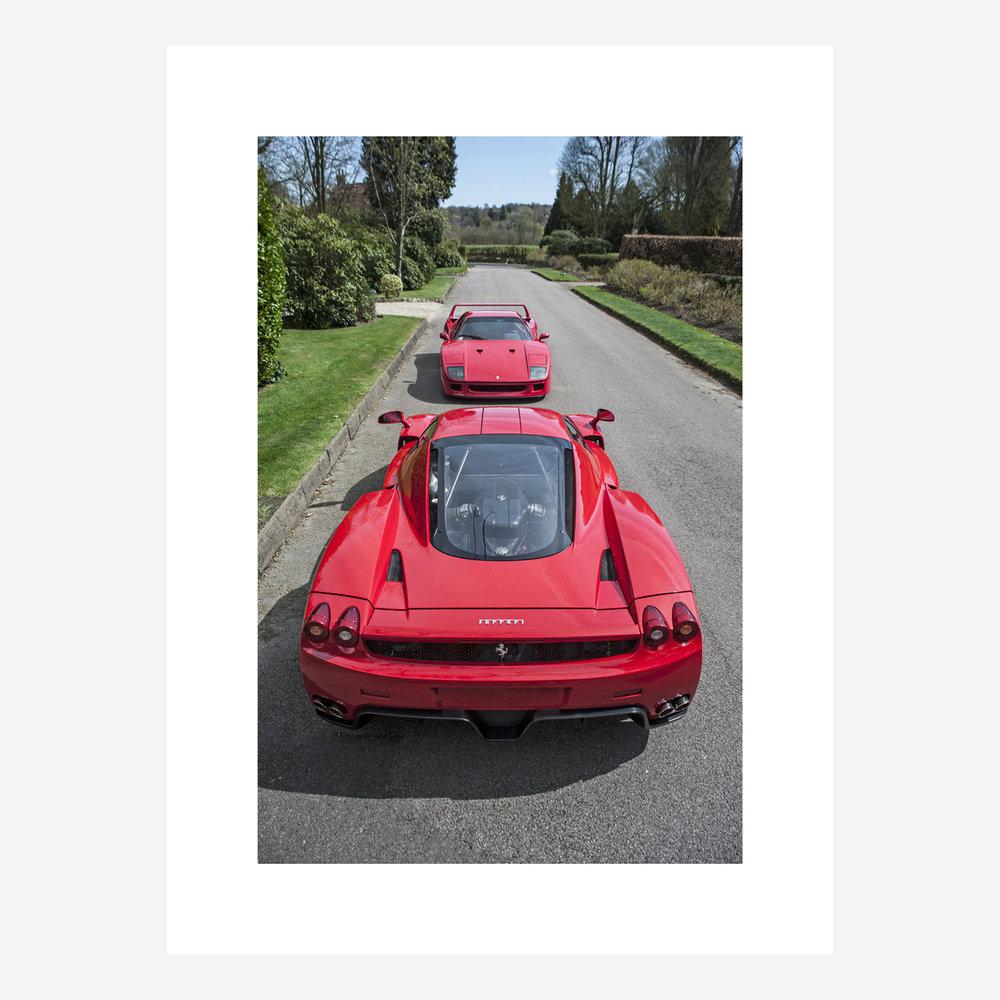 "Ferrari Enzo & F40 30"" x 22"""