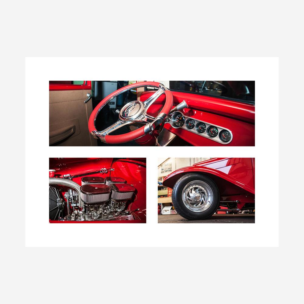 """Ford Hotrod Details 32"""" x 24"""""""