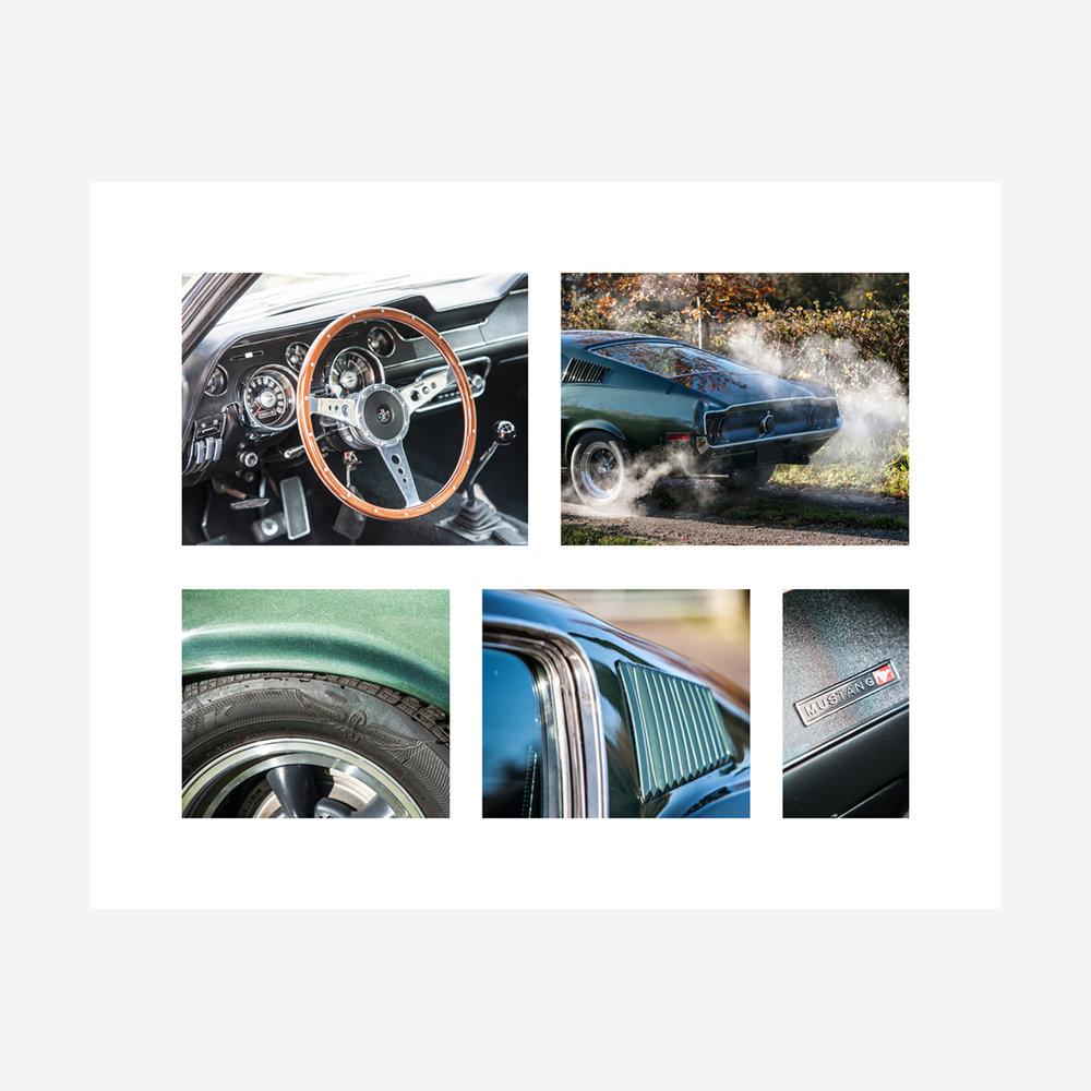 """Ford Mustang """"Bullitt"""" Details 30"""" x 24"""""""