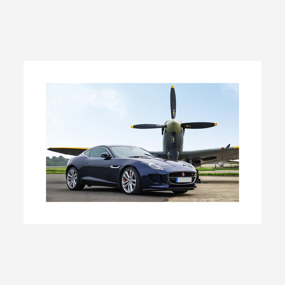 """Jaguar F-Type V6S & Spitfire 32"""" x 22"""""""