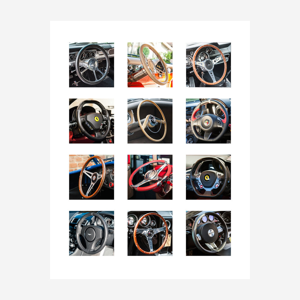 "Steering Wheels 29"" x 23"""
