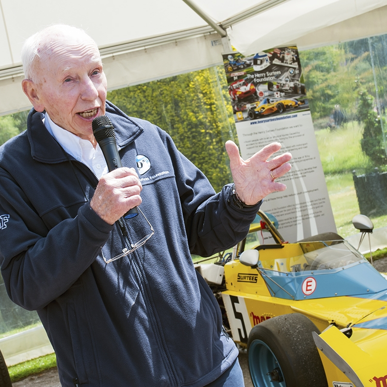 John Surtees OBE at Hever Castle
