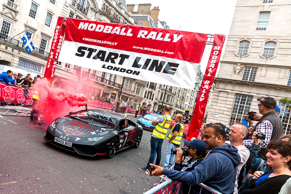 Modball Rally 2017 Start Line