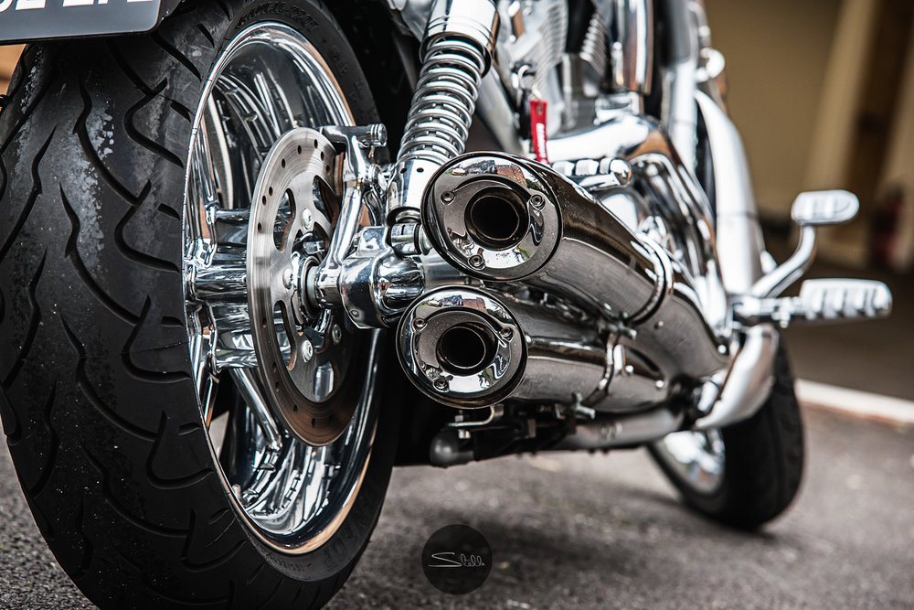 Stella Scordellis Harley Davidson V-Rod Exhaust Watermarked.jpg