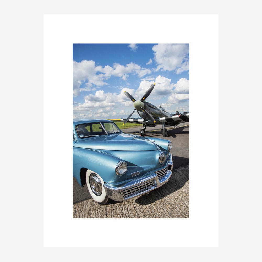 Tucker 48 & Spitfire - 16x12.jpg
