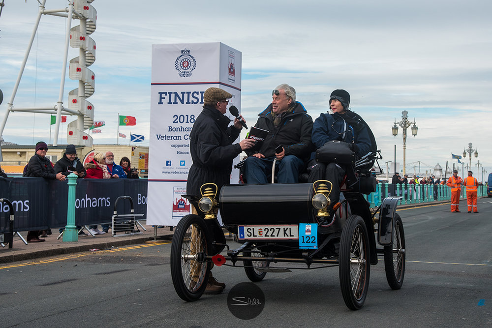 The first car home was the 1901 Oldsmobile driven by Andres Melkus from Austria, 1 Cylinder 4.5 HP.