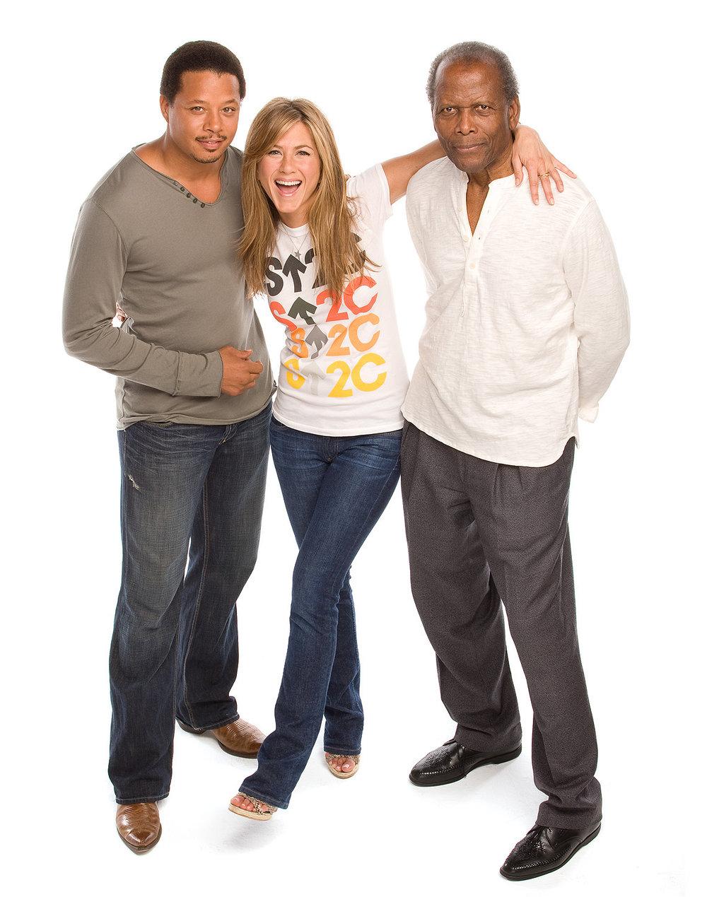 Terrence Howard, Jennifer Aniston & Sidney Poitier