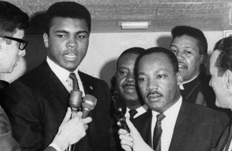 Dr. Martin Luther King Jr. and Muhammad Ali in Louisville, KY. (AP Photo)