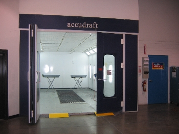 We use the latest, state of the art Accudraft, heated, downdraft spray booth for the best paint finishes available anywhere. This unit has a 1.2 million BTUheater to achieve accurate and steady temperatures in any conditions. Paint color and texture matching is one of our specialties.