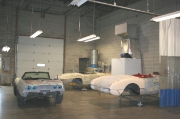 Another area we have for rough body work utilizes a full room ventilation system and vacuum sanding equipment to help capture dust as it is created.