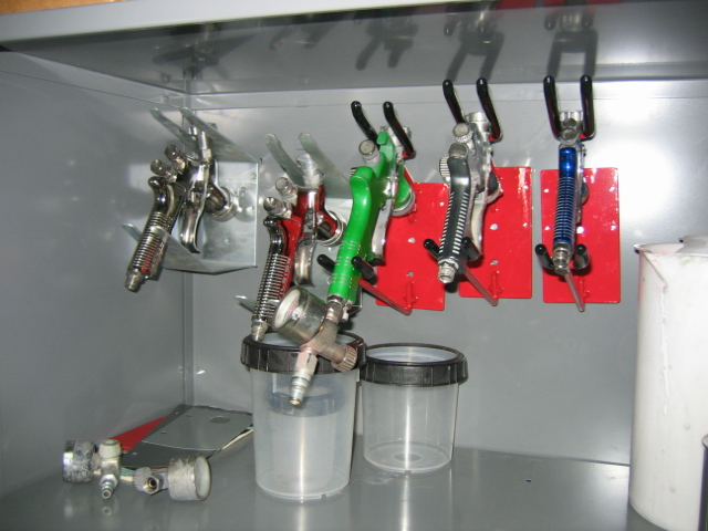High Volume Low Pressure (HVLP) spray guns are exclusively used for a superb consistent finish.