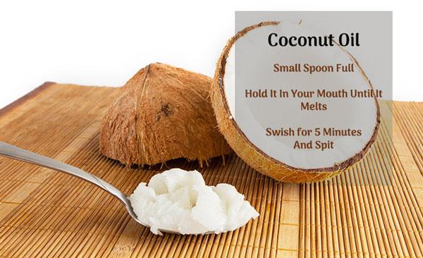 coconut oil - teeth whitening