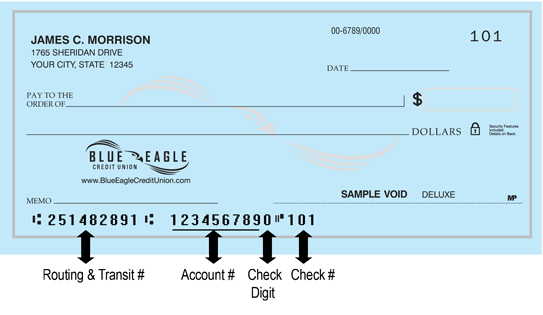 Blue Eagle Credit Union Check