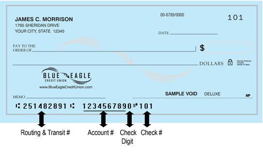 Blue Eagle Credit Union Check