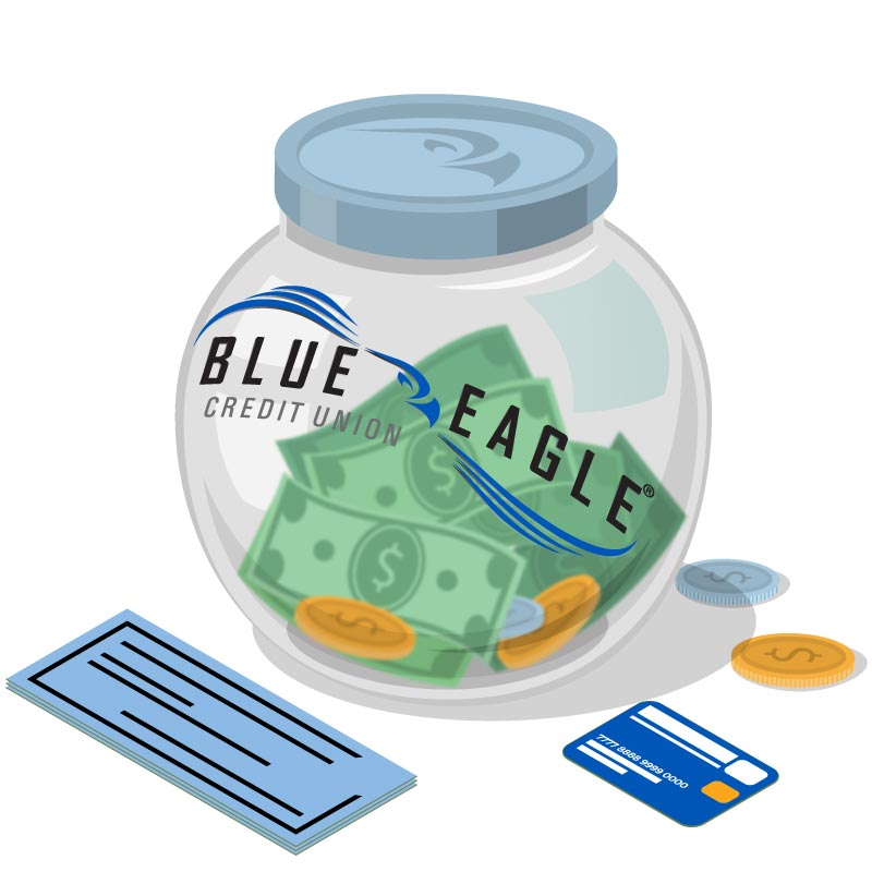 Blue Eagle Credit Union Money Jar