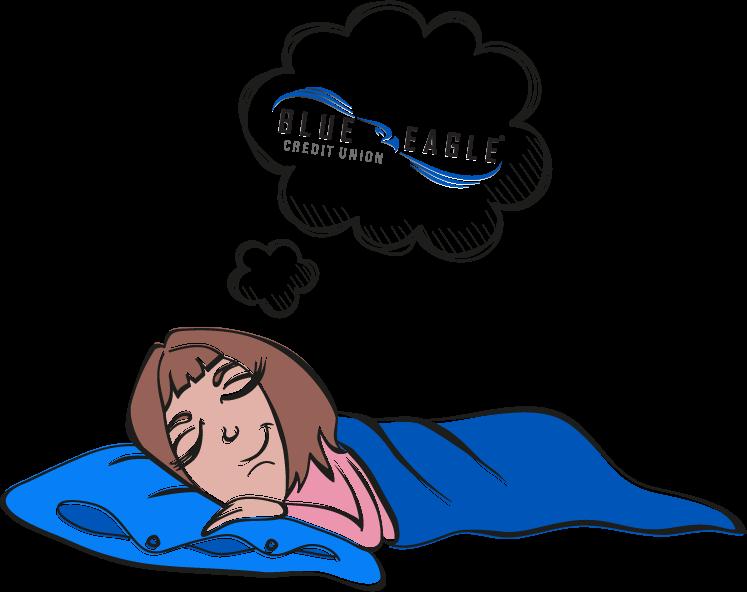 Woman sleeping peacefully.