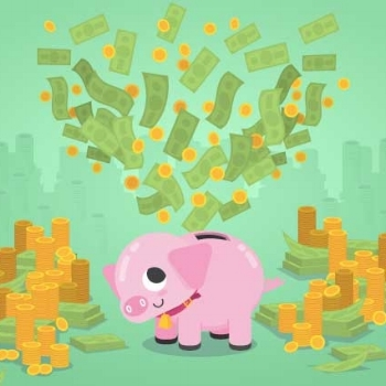 Overflowing Piggy Bank