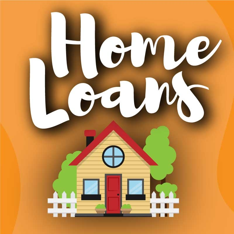 Home Loans Graphic with House