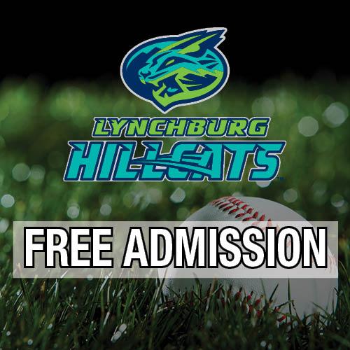 Lynchburg Hillcats Free Admission