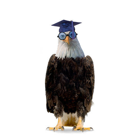 Seecil wearing a graduation cap